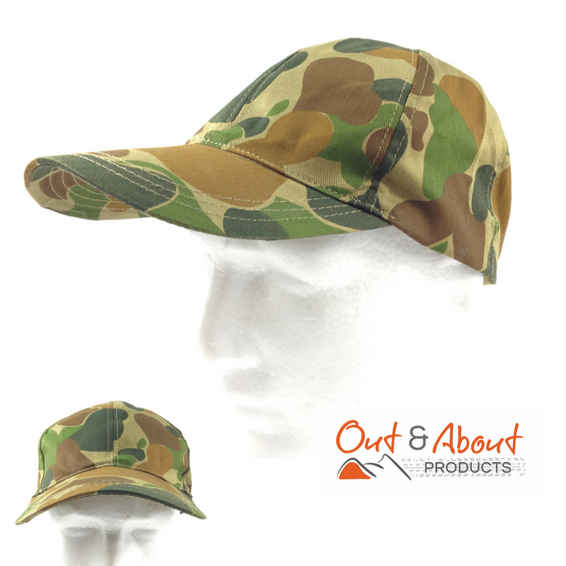 Auscam Camouflage Peak Cap Army Style Hat