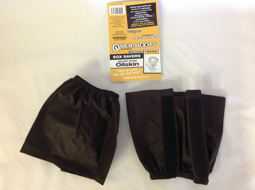 Over boots Oilskin Sock Protectors Velcro water Repellent Work Boot Cover