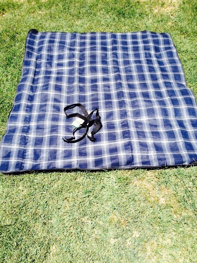Picnic Blanket 100% WATERPROOF Picnic Rug with Carry Handle