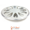 Oyster Wheel Spun Metal Cooking and Serving Tray