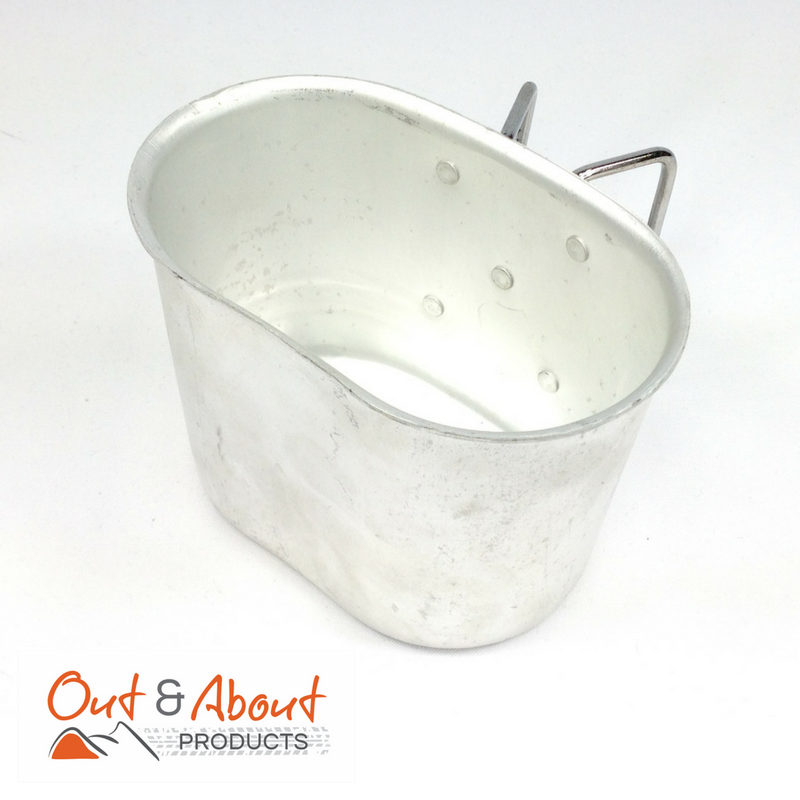 Canteen Cup Aluminium Kidney Cup with Handles