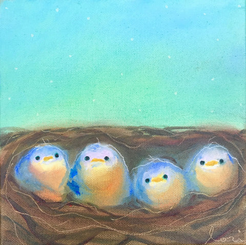 'Nestlings' Canvas Reproduction