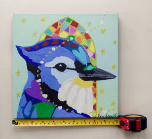 Blue Jay Choirbird Canvas Reproduction