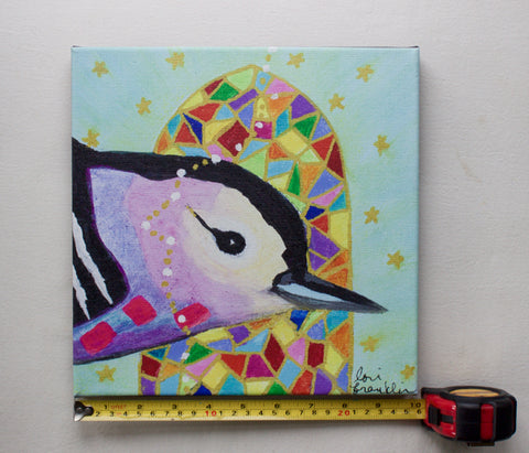 Nuthatch Choirbird Canvas Reproduction