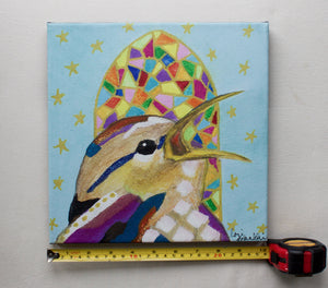 Wren Choirbird Canvas Reproduction