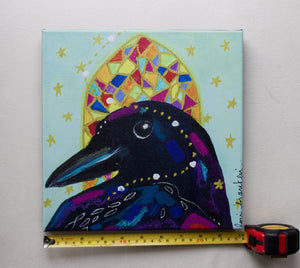 Crow Choirbird Canvas Reproduction