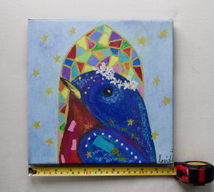 Bluebird Choirbird Canvas Reproduction