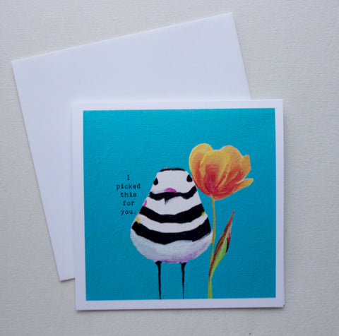 Killdeer with Tulip Greeting Card