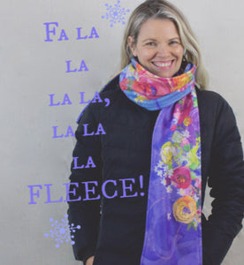 Periwinkle Fleece Scarf