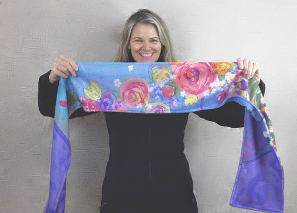 Periwinkle Fleece Scarf - FREE SHIPPING