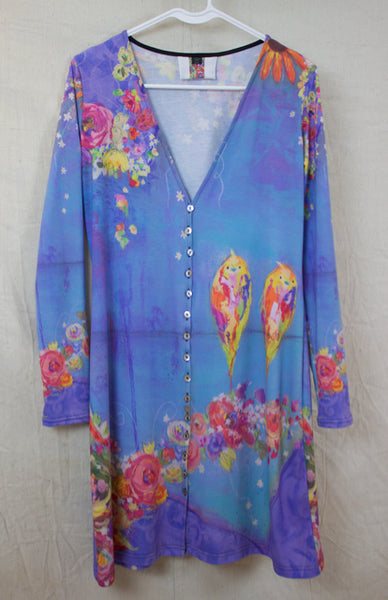 Periwinkle with Buttons Cardigan