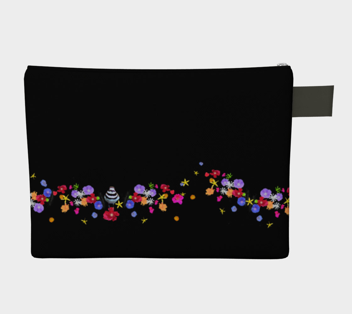 Black Sprinkle Flowers Doo-Dah bag