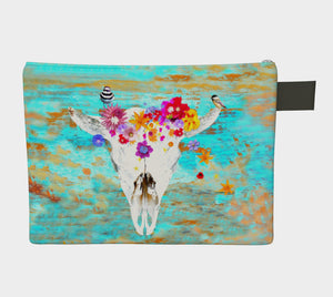 Frida Bison Skull doo-dah bag