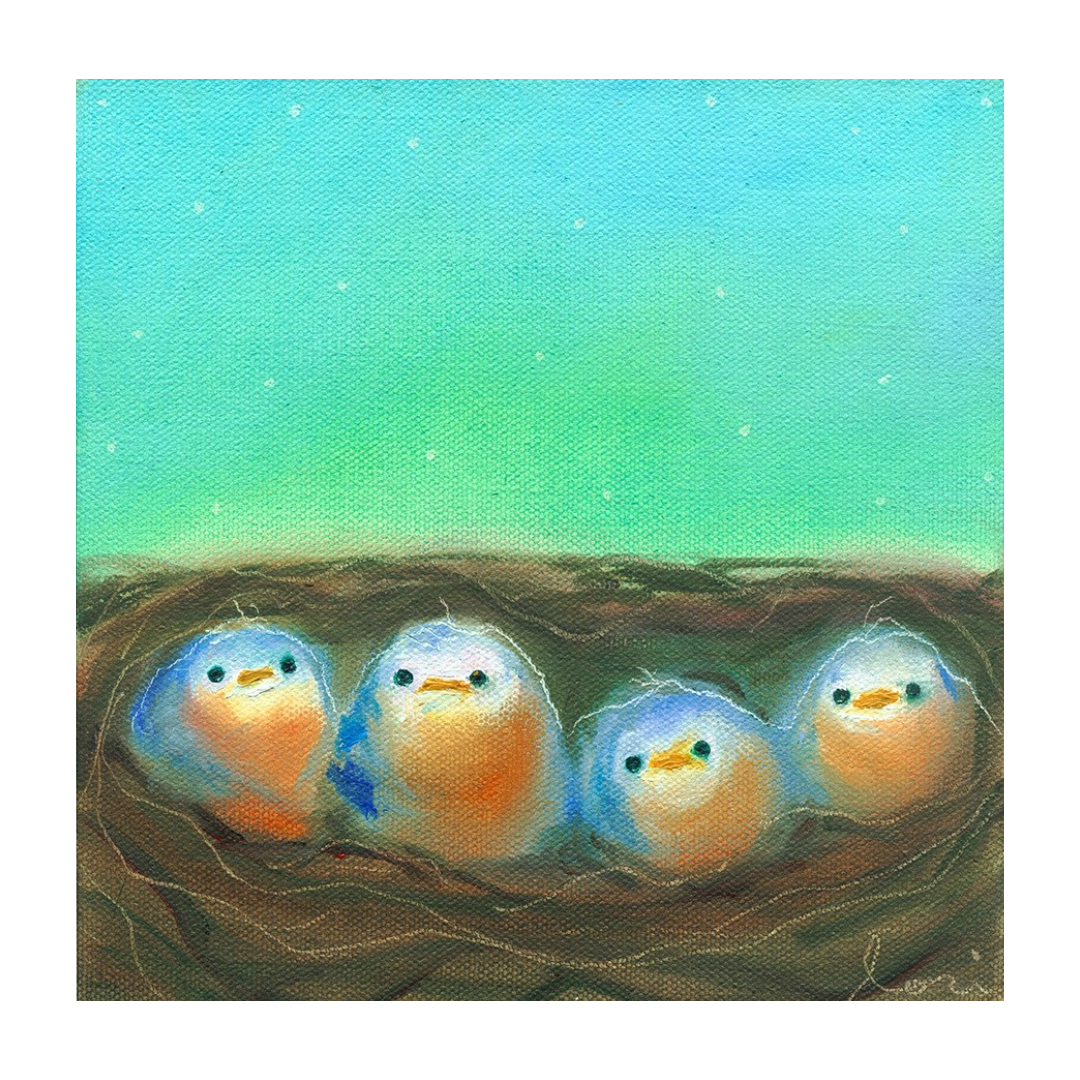 Nestlings poster print by Lori Franklin