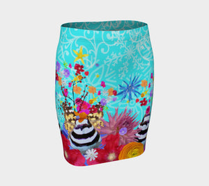 Aqua Killdeer fitted skirt