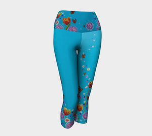 'Monarch & Milkweed' Yoga Capri
