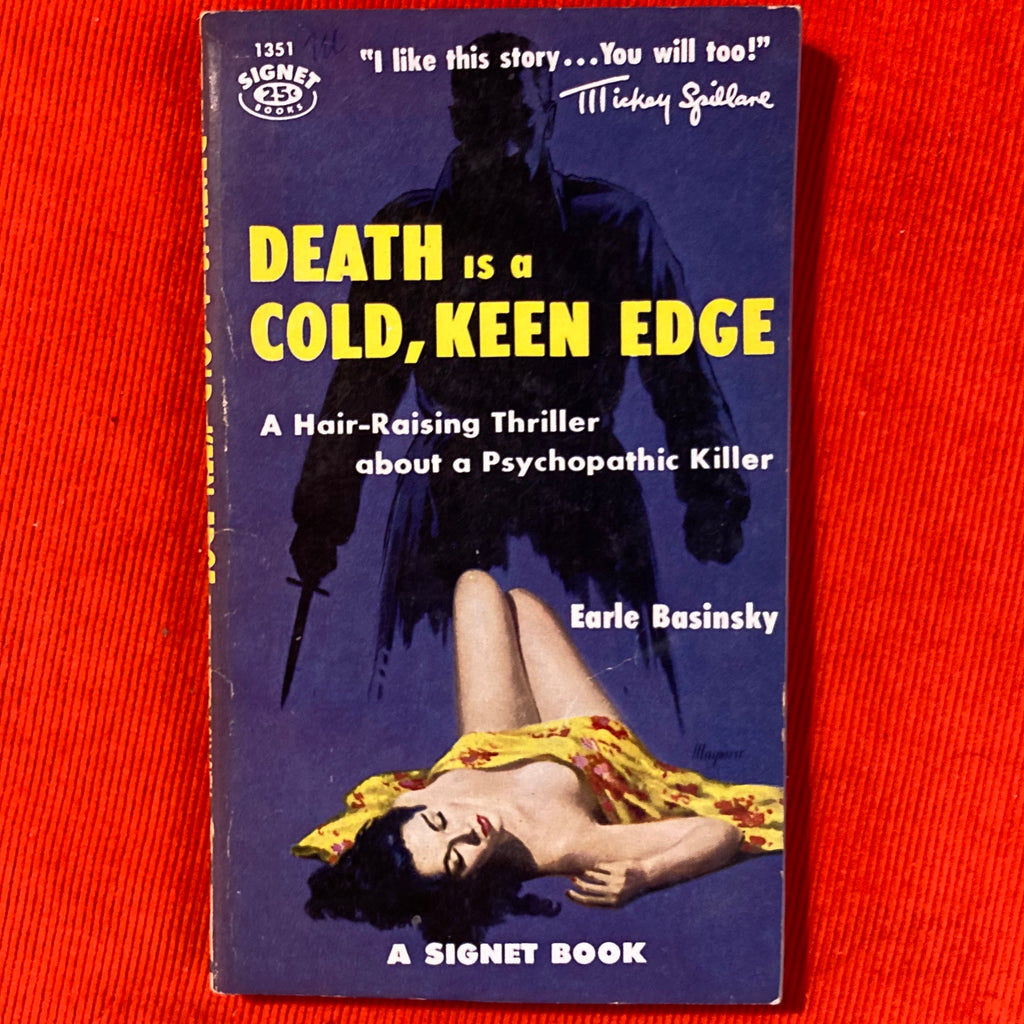 "1956, ""Death is a Cold Clean Edge"" Signet Books, Earle Basinsky"