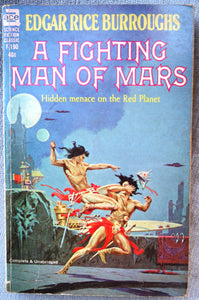 Edgar Rice Burroughs, FIGHTING MAN OF MARS, Ace, F-190, c.1963