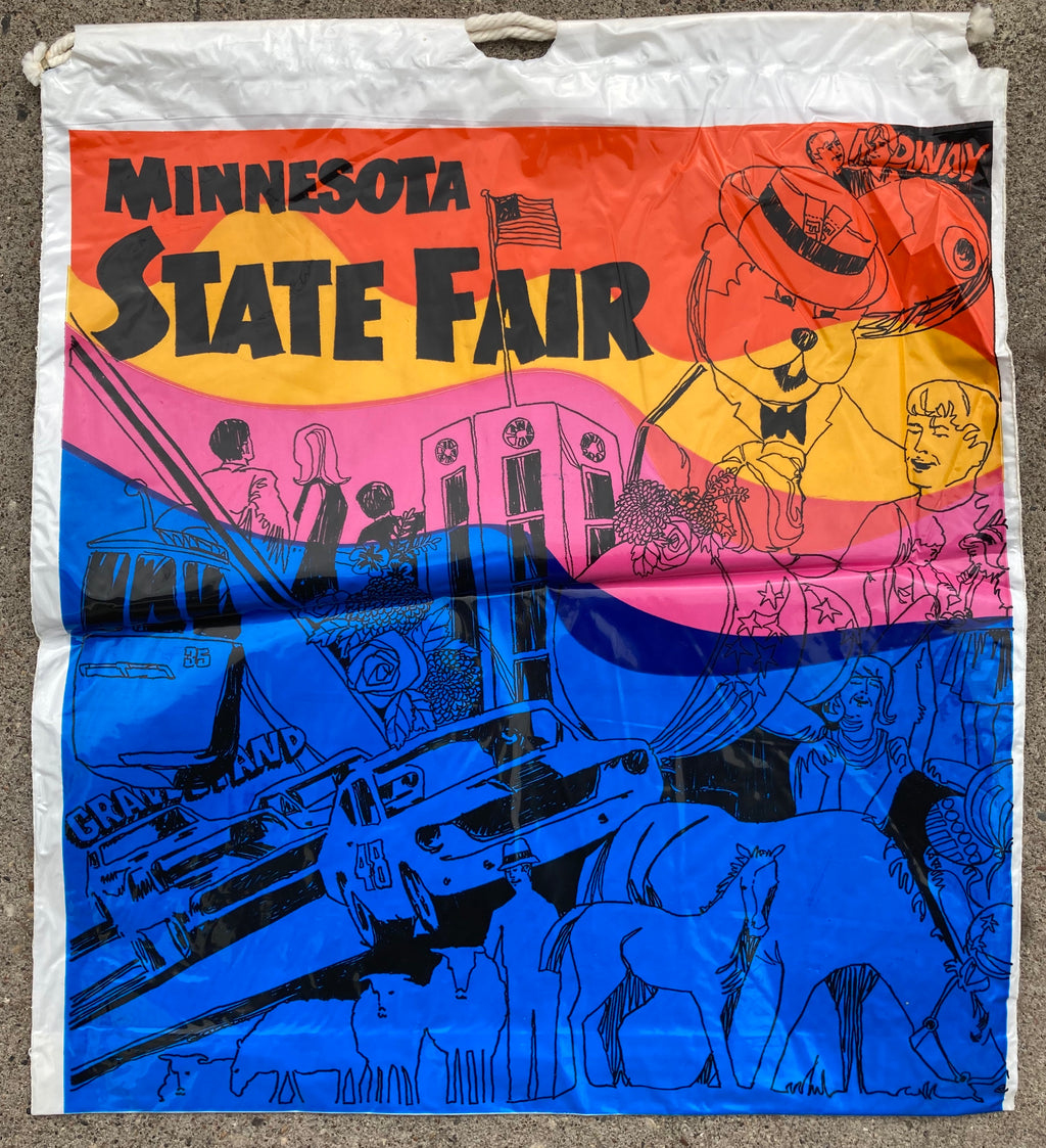 Minnesota State Fair Vintage 1960 Drawstring Bag
