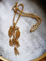 Vintage Trifari Asian Gold Necklace