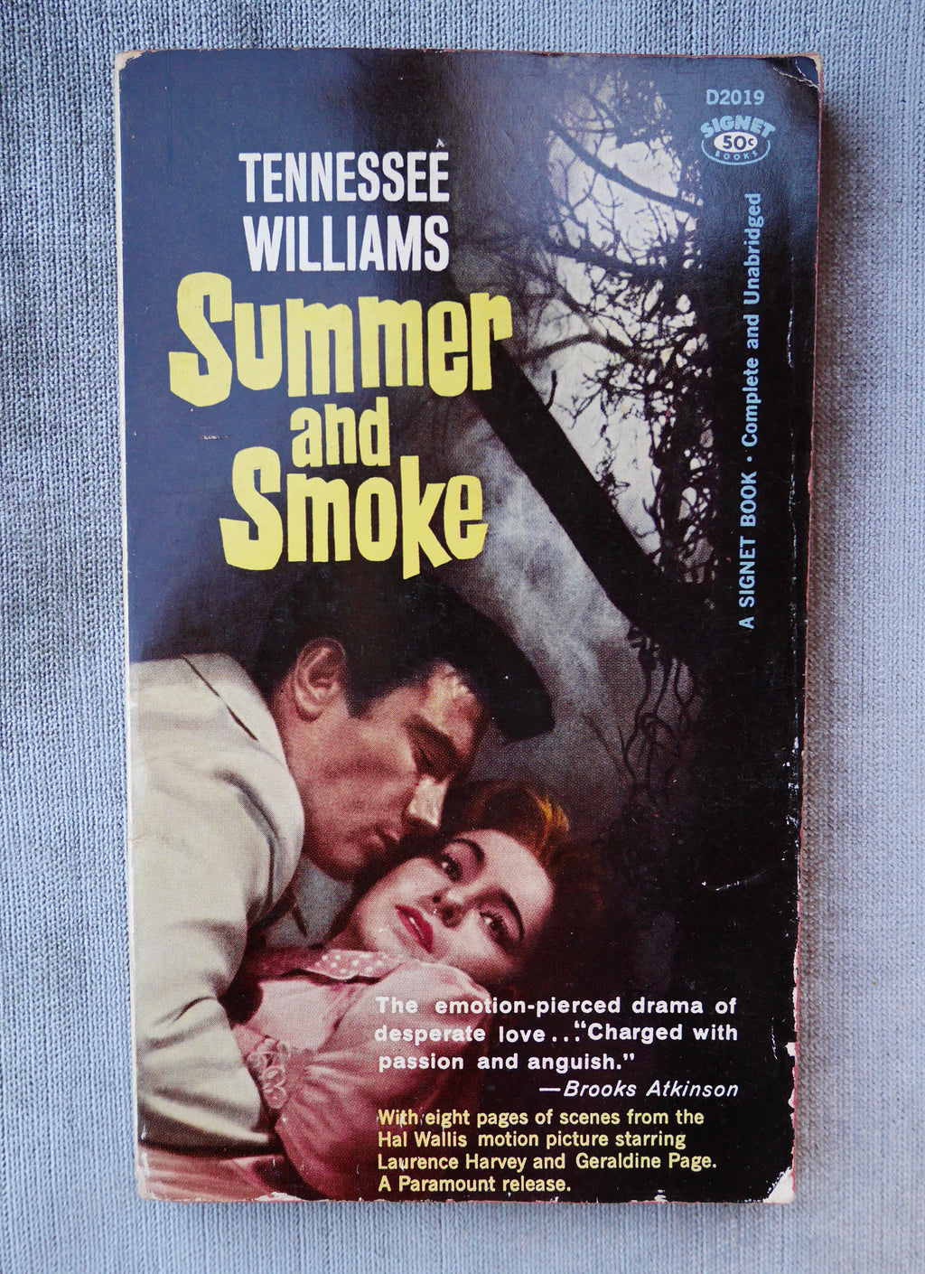 Tennessee Williams, Summer and Smoke, Signet, 1961, Movie Tie-In Paperback