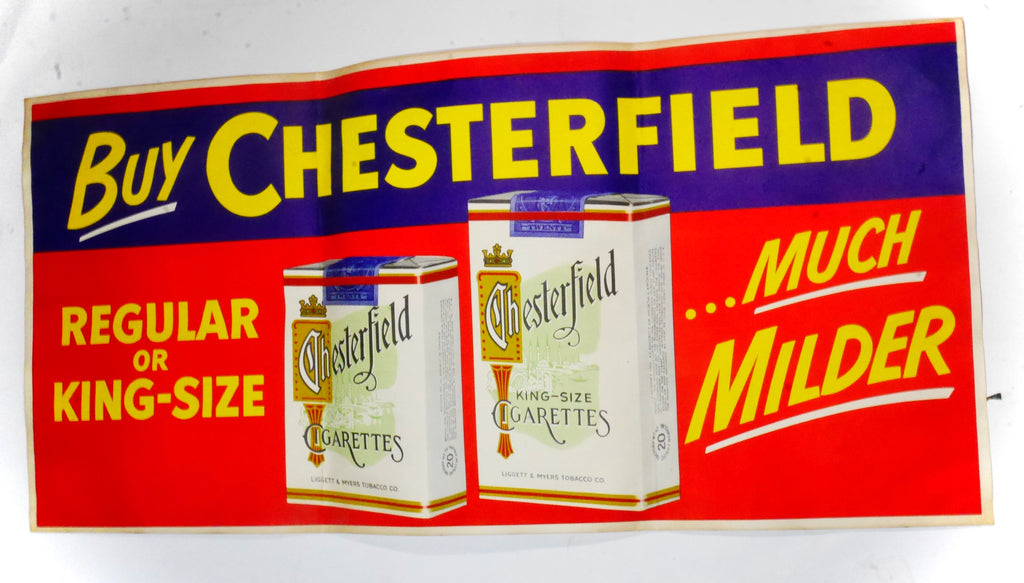 Large Vintage Chesterfield Poster