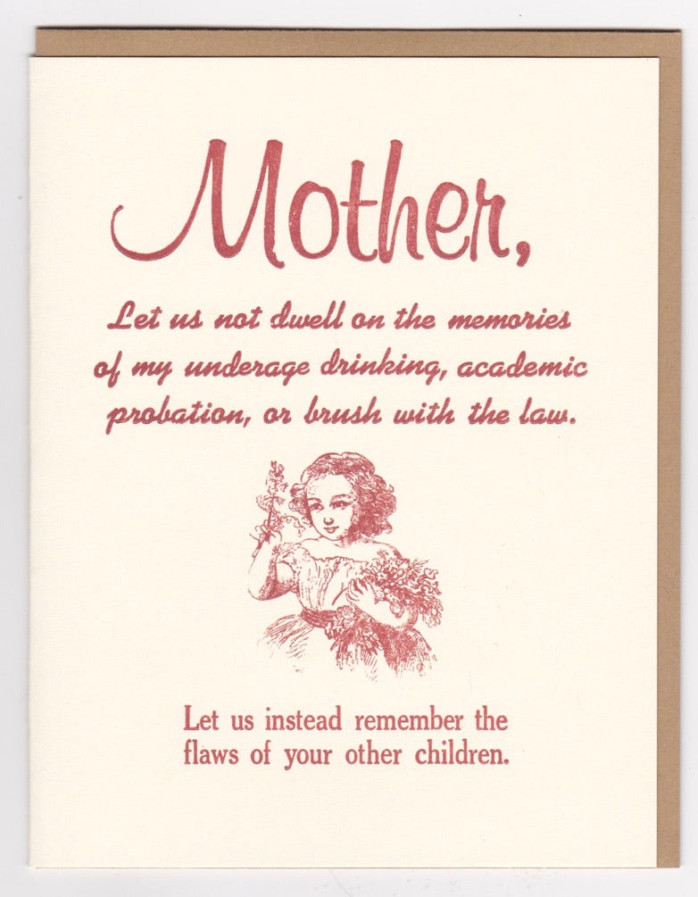 "Mother's Day! ""Let us not dwell...."" by Zeichen Press"