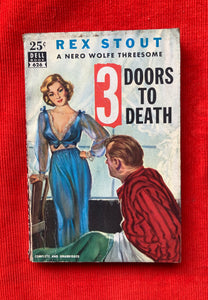 "1949. Dell Books, ""3 Doors to Death,"" by Rex Stout"