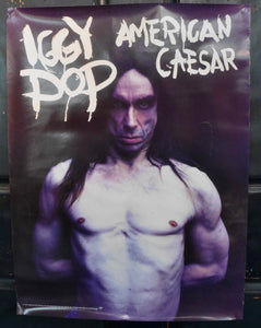 "Iggy Pop, American Caesar, 18 x 24"" 1993 Virgin Records Poster"