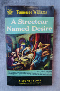 Tennessee Williams, A Streetcar Named Desire, Complete Play Script, Signet, 1958 Paperback