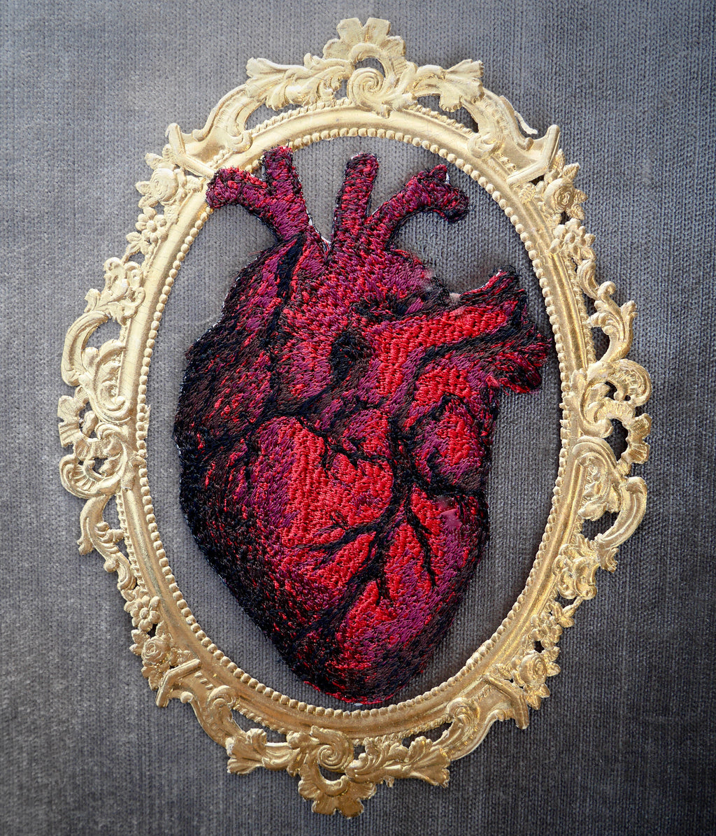 Small Embroidered Heart Patch