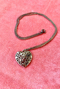 Vintage Heart Cluster Charm Necklace!