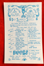1969 Concert Postcard, Canned Heat, Everly Brothers, Bill Graham, Fillmore West