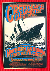 Bill Graham presents, 1969 Creedence Clearwater Revival Concert Postcard