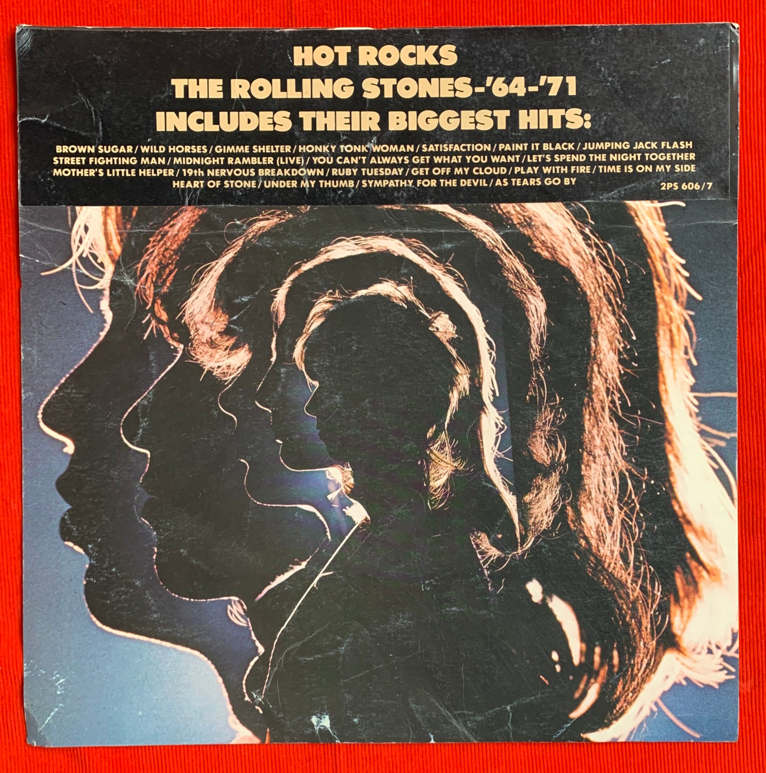 "The Rolling Stones ""Hot Rocks"" 1964–1971 Record Store Promo Poster"
