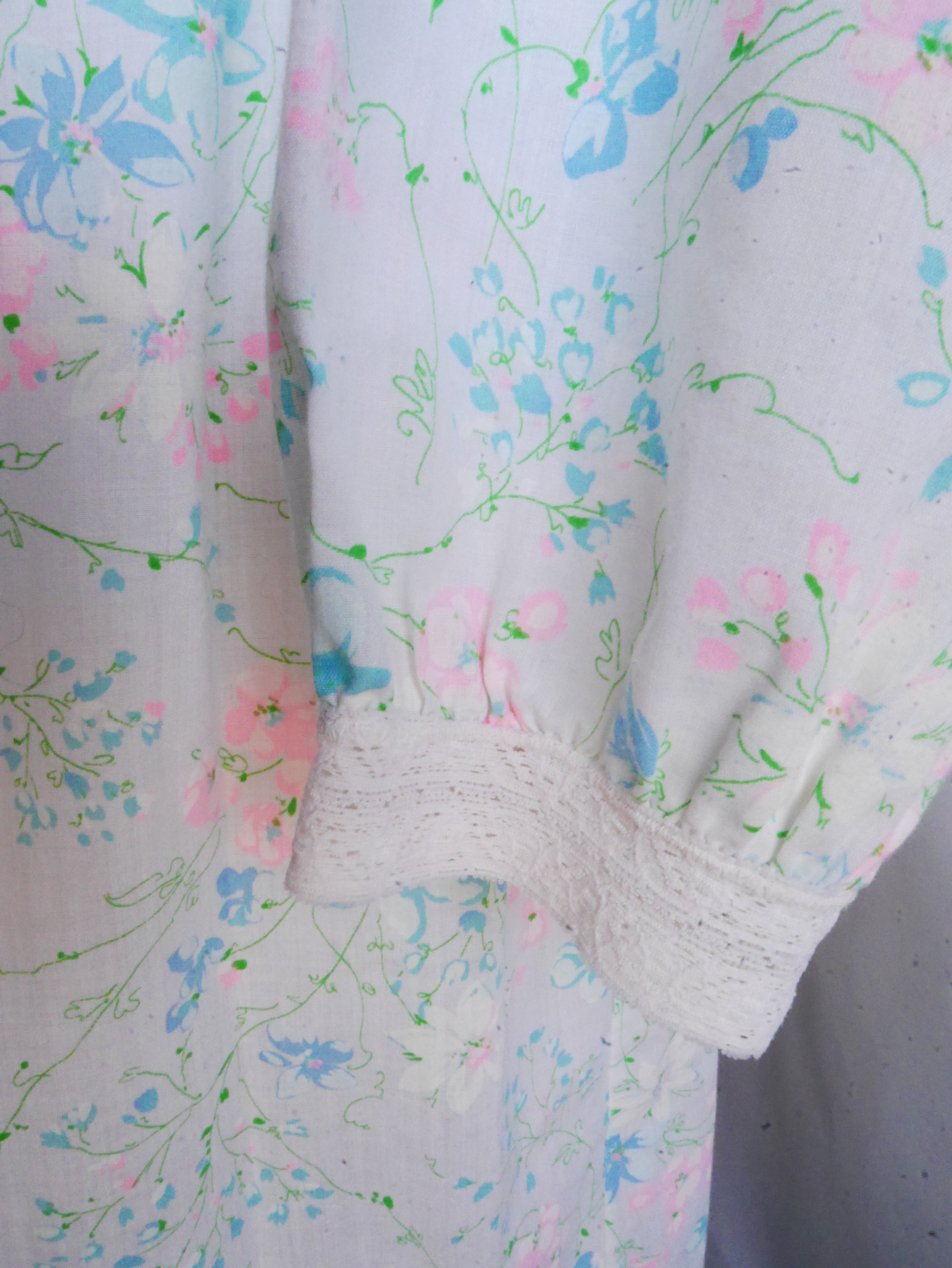 Vintage Floral Empire Waist Nightgown