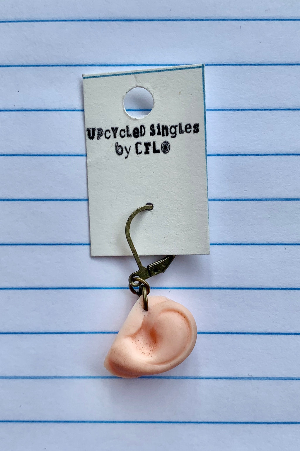 Upcycled Singles - Doll Ear! Vintage Charms For Your Ears!