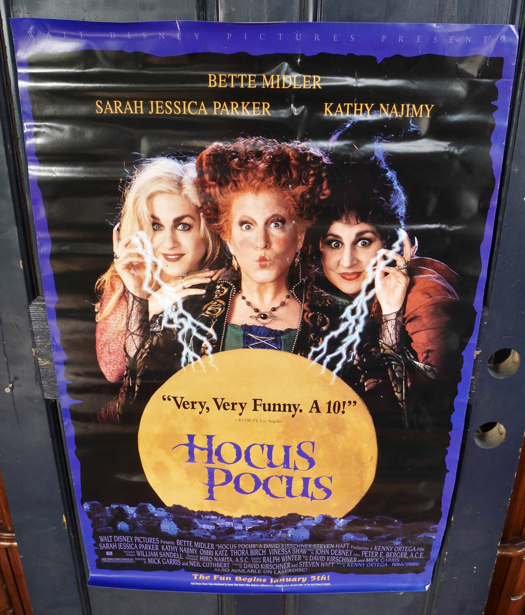 Walt Disney Hocus Pocus (1993) Original Advance Movie Poster