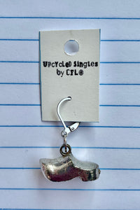 Upcycled Singles -  Silver Clog! Vintage Charms For Your Ears!
