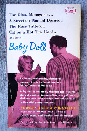 Tennessee Williams, Baby Doll, Signet Books, 1956, Movie Tie-In Paperback
