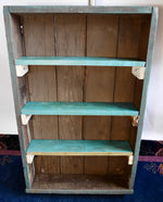 Teal Primitive Upcycled Drawer Wall Shelf