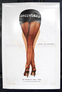 Secretary (2002) Original Advance Movie Poster - Rolled, Mint Condition
