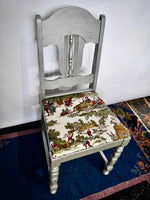 Silver, Refinished, Antique Chair