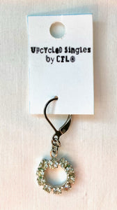 Upcycled Singles, Vintage Rhinestone Charm For Your Ears!