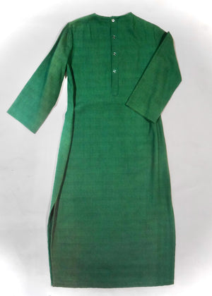 Vintage Green Linen, Beaded Kaftan!