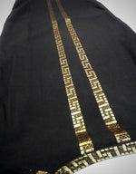 Vintage Gold Embroidered Linen Kaftan!