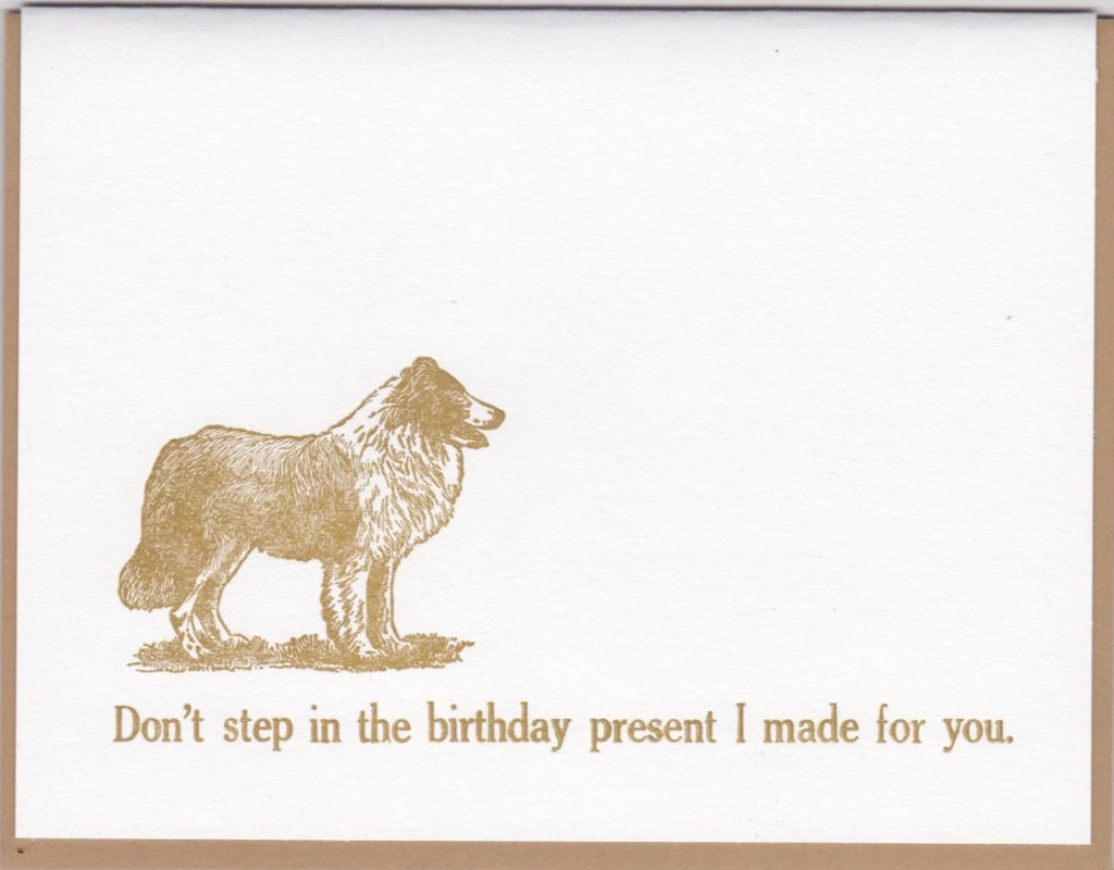 """Don't Step In The Birthday Present I Made For You"" by Zeichen Press"