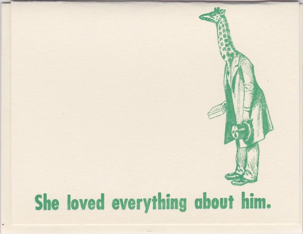 """She Loved Everything About Him"" by Zeichen Press"