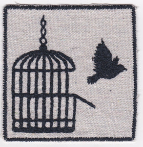 Bird/Cage Embroidered Patch