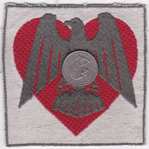Embroidered Heart/Eagle Patch